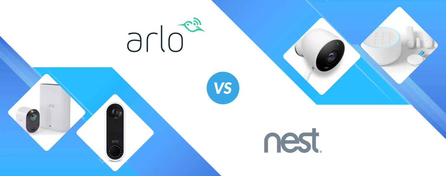 A detailed comparison of Arlo vs Nest security cameras, video doorbells and alarm systems helping you find the best entry level security system for your home!