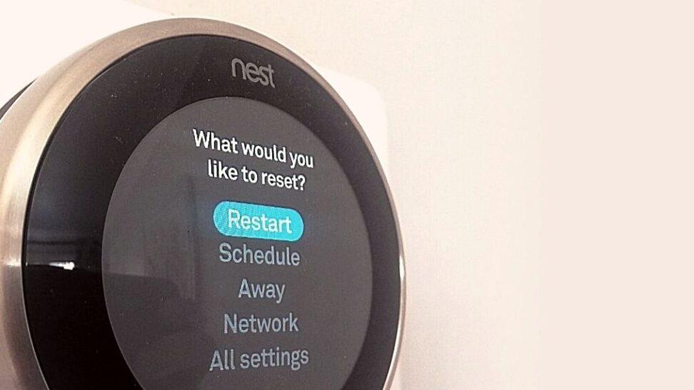 Reset a Nest Thermostat